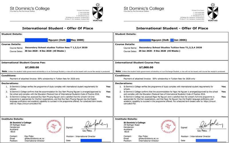 Học bổng New Zealand bậc trung học năm 2020