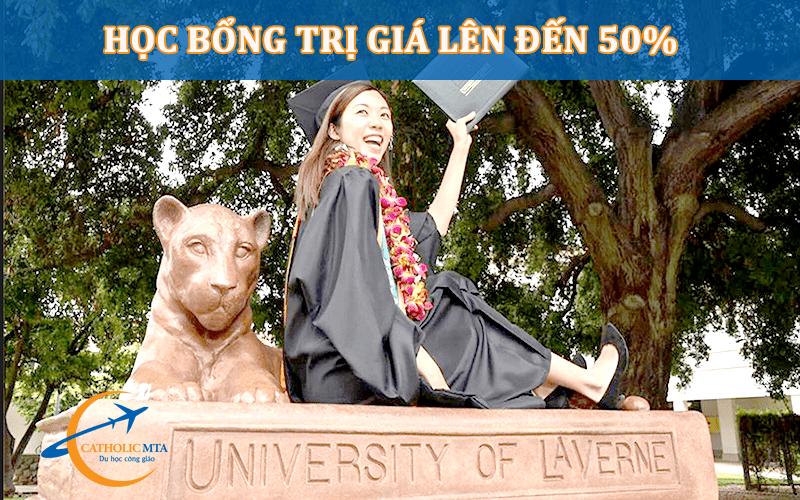 Học bổng 50% tại University of Laverne