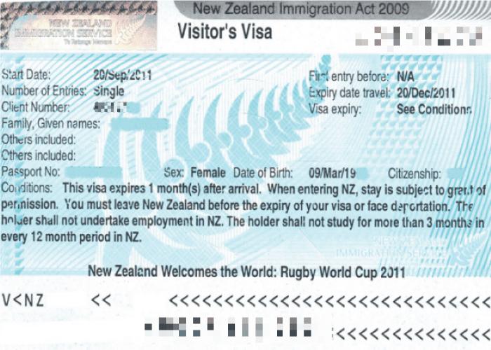 cách xin visa New Zealand