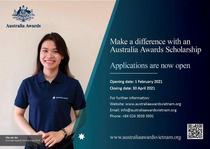 Chương trình học bổng hấp dẫn của Chính phủ Úc